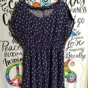Forever 21 blue anchor shirt dress size 2x